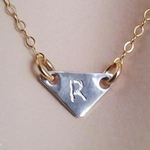Monogram Necklace, Jewelry, Initial..