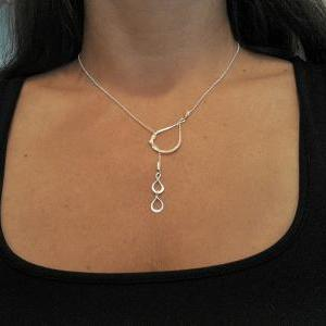 Teardrop Necklace - Lariat