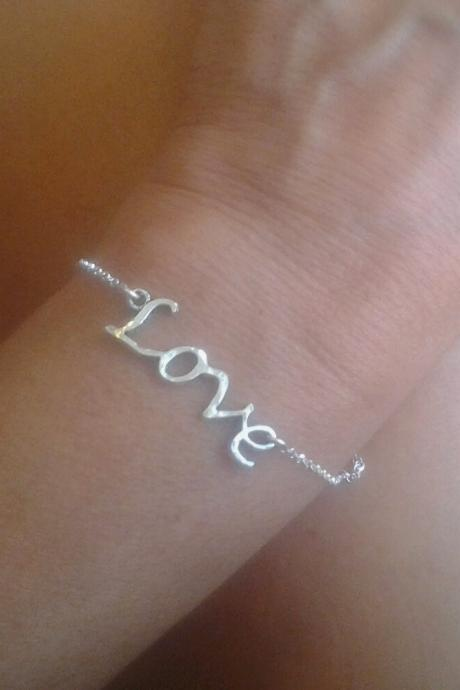 Love script Bracelet gift teen love jewelry