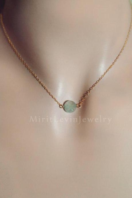 Mint green Fluorite necklace jewelry Fluorite one Crystal necklace Gemstone mint jewelry