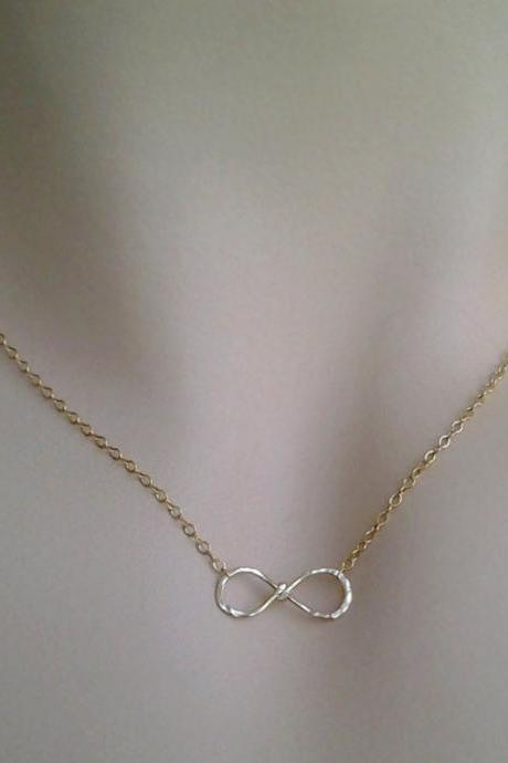 Infinity Pendant in Gold and Silver,Mixed Metal necklace,pendant, Bridesmaid, sister,gift, girl friend, wife,best friend