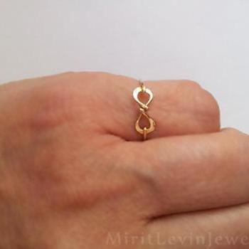 Infinity Ring,infinity jewelry, 14K Gold filled, Pure Silver, great gift for best friends, bridesmaid gift,ring, infinity knot ring