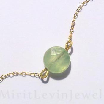 Special SALE, Mint Green, Fluorite, Necklace, Gemstone, Birthstone necklace, single stone, pendant, birthstone pendant, birthday gift